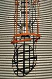 Cage et échelle de poubelle de grain Photos stock
