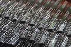Cage feeders Stock Photos