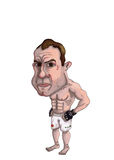 Cage Fighter. Hand drawn illustration of a cage fighter Stock Photo