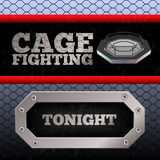 Cage Fighting. MMA Poster. Banner Royalty Free Stock Photos
