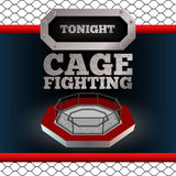 Cage Fighting. Poster. Vector. Cage Fighting. MMA Poster. Banner. Vector illustration Stock Photography