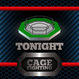 Cage Fighting. Poster. Vector Stock Image