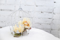 Cage with flowers Royalty Free Stock Photo