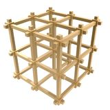 Cage frame sturcture. Cage frame structure isolate on whtie background Royalty Free Stock Photo