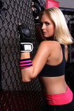 Cage Girl Royalty Free Stock Images