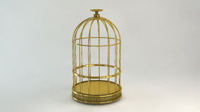 Cage gold Royalty Free Stock Photography