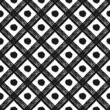 Cage grunge et points de fond sans couture Image libre de droits