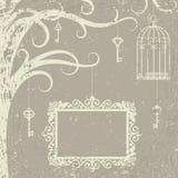 Cage, keys royalty free illustration