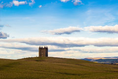 The Cage, Lyme Park, Cheshire. A small tower named, The Cage, in Lyme Park estate near Disley in Cheshire, England. Shot on a cold January afternoon just as the royalty free stock photography