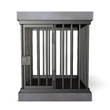 Cage made of steel Stock Photo
