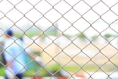 Cage metal net. White cage metal net in factory Royalty Free Stock Photography