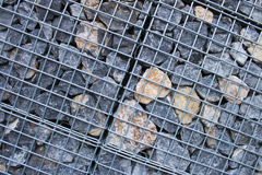 Cage of the Rock piles for indistury using by texuted Royalty Free Stock Image