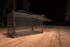 Cage rouillée de rat photos stock