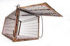 Cage rouillée de rat images stock