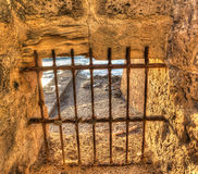 Cage by the sea in hdr Stock Photos