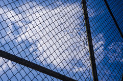 Cage and sky. Cage and blue sky Stock Images