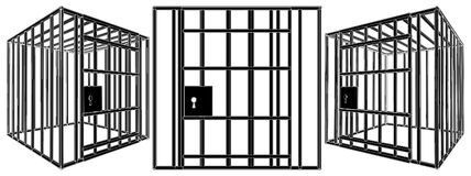 Cage Vector 01. Iron Cage Isolated Illustration Vector Royalty Free Stock Image