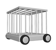Cage on wheels Stock Photography