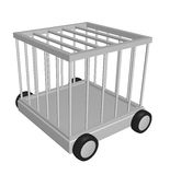 Cage on wheels Royalty Free Stock Photo