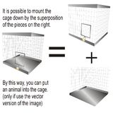 Cage With Padlock Royalty Free Stock Image