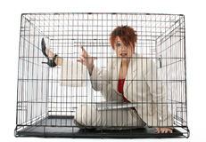 Caged royalty free stock photography
