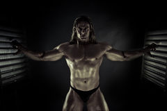 Caged Bodybuilder Royalty Free Stock Photography