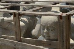 Caged Buddha royaltyfria bilder