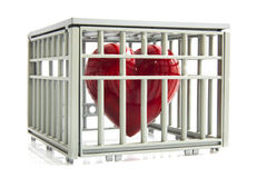 Caged heart Royalty Free Stock Photography