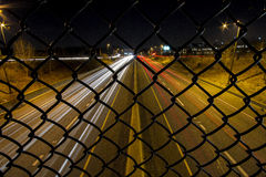 Caged Highway Stock Photo