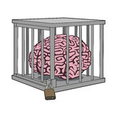 Caged mind Royalty Free Stock Photo
