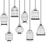 Cages à oiseaux Images libres de droits