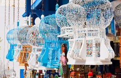 Cages for birds. Conventional cages for birds in the town of Sidi Bou Said, Tunisia Stock Photography
