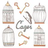 Cages collection Stock Photo