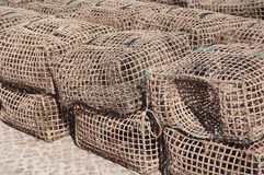 Cages for fishing seafood Stock Image