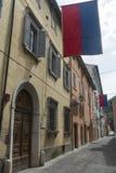 Cagli (gränser, Italien) Arkivbild