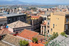 Cagliari. An areal view of the city of Cagliari in Sardinia Royalty Free Stock Image