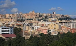 Cagliari. City of Cagliari in Sardinia. View from church of Bonaria Royalty Free Stock Photography