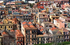 Cagliari. City of Cagliari in Sardinia. View from castle. Particular of Stampace Royalty Free Stock Images