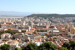 Cagliari from above, Sardinia Royalty Free Stock Images