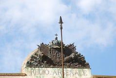 Cagliari architecture. Cagliari ancient architecture in old town Stock Photography