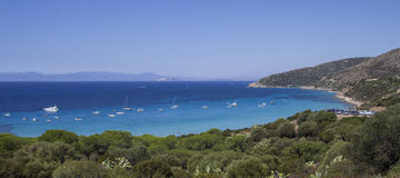 Cagliari: Azul profundo - Sardinia Imagens de Stock Royalty Free