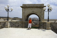Cagliari, Bastione di Saint Remy imagens de stock