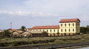 Cagliari: bouwend gekozen zouten - Sardinige Royalty-vrije Stock Afbeeldingen