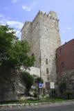 Cagliari, Castello met Torre Di San Pancrazio Royalty-vrije Stock Fotografie