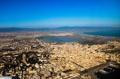 Cagliari da cielo Fotografia Stock Libera da Diritti