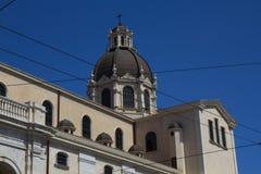 Cagliari: de koepel van de Basiliek Stock Foto