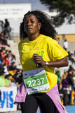 CAGLIARI, ITÁLIA - 7 de dezembro de 2014: meia maratona de 7 ^ - Delio memorável Serra Imagem de Stock