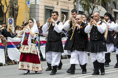 CAGLIARI, ITÁLIA - 1º de maio de 2016: festa de 360 ^ de Saint Efisio - Sardinia Imagens de Stock Royalty Free