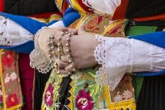 CAGLIARI, ITÁLIA - 1º de maio de 2015: procissão religiosa de 359 ^ de Sant'Efisio - Sardinia Imagem de Stock Royalty Free