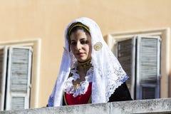 CAGLIARI, ITÁLIA - 1º de maio de 2015: procissão religiosa de 359 ^ de Sant'Efisio - Sardinia Fotografia de Stock
